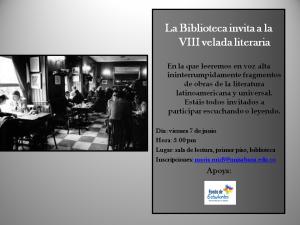 Invitación a la VIII Velada Literaria
