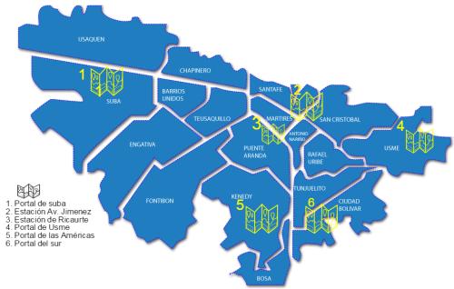 mapa biblioestaciones